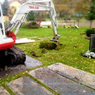 kyrkogård markarbete