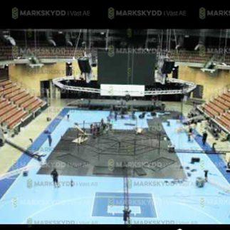 preparing arena floor